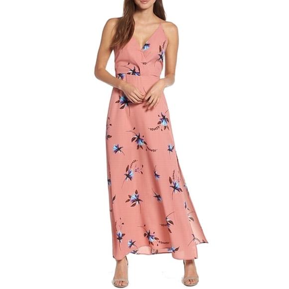 Lush Dresses & Skirts - Lush Multi Surplice Side Slit Max Dress